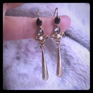 Gold Fleur De Lis Earrings